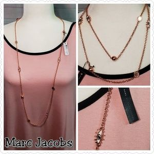 Marc Jacobs Rose Gold 2 way Long Necklace